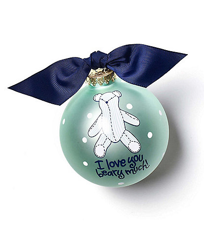 Coton Colors I Love You Beary Much Boy Glass Ornament