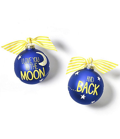 Coton Colors I Love You to the Moon Glass Ornament