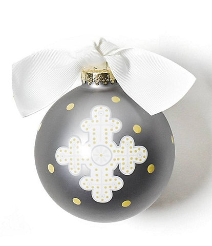 Coton Colors Neutral Cross Glass Ornament