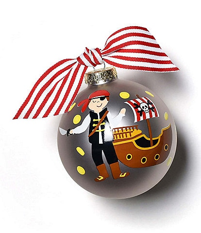 Coton Colors Pirate Glass Ornament