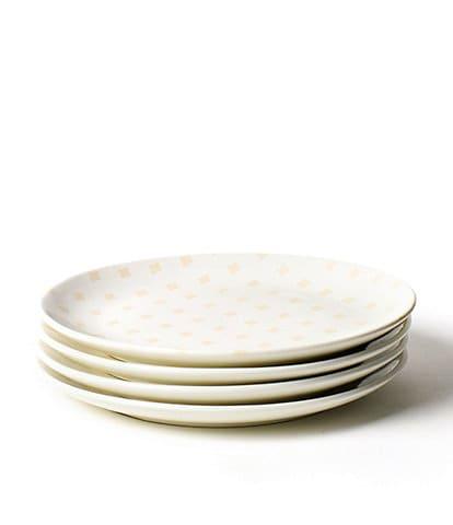 Coton Colors Quatrefoil Salad Plates Blush Set of 4
