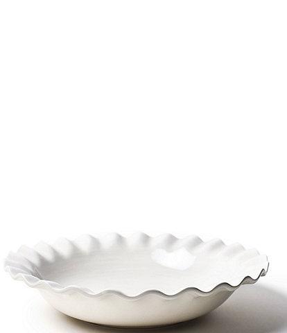 Coton Colors Signature White 13 Ruffle Best Bowl