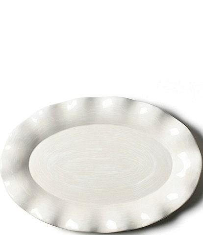 Coton Colors Signature White Oval Platter