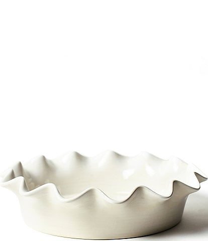 Coton Colors Signature White Ruffle Pie Dish