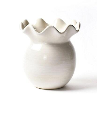 Coton Colors Signature White Ruffle Vase