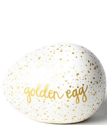 Coton Colors Speckled Golden Egg Figurine