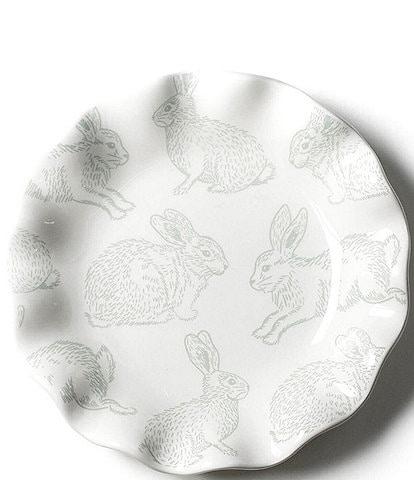 Coton Colors Speckled Rabbit Ruffle 8#double; Salad Plate