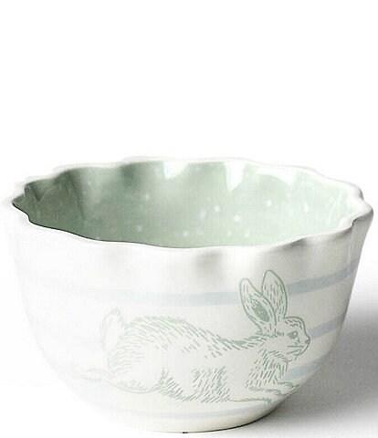 Coton Colors Speckled Rabbit Ruffle Appetizer Bowl