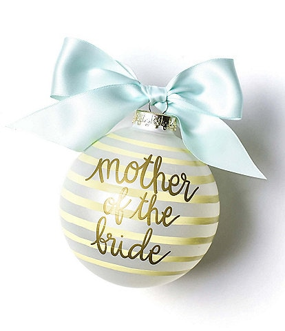 Coton Colors Stripe Mother of the Bride Glass Ornament