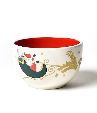 Coton Colors Vintage Christmas Village Appetizer Bowls, Set of 4