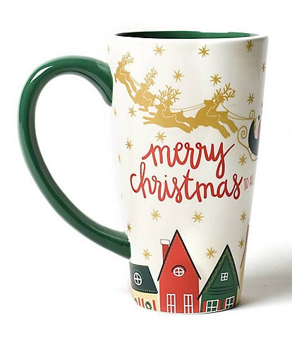 Coton Colors Vintage Christmas Village Collection Santa Mug