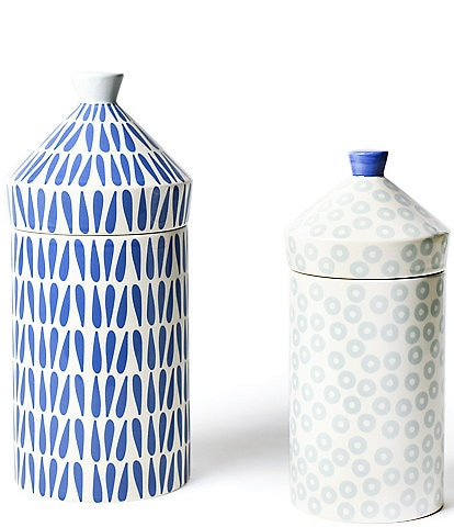 Coton Colors Wedgewood Canisters Set of 2