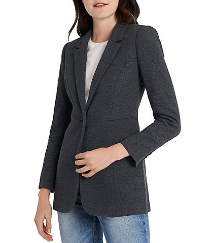 Court & Rowe Long Sleeve Waffle Knit Blazer