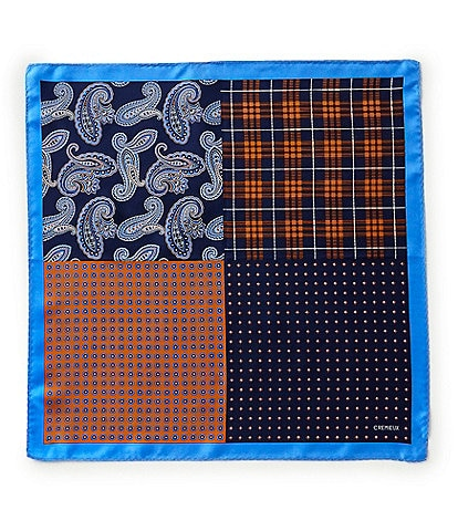 Cremieux 4-Square Woven Silk Pocket Square