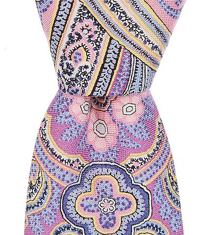 Cremieux All Over Paisley Print Narrow 3#double; Silk Tie