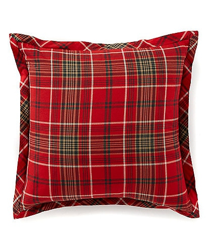 Cremieux Barrett Cotton Flannel Plaid Square Pillow