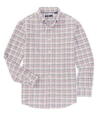 Cremieux Big & Tall Check Oxford Multi-Color Long-Sleeve Woven Shirt