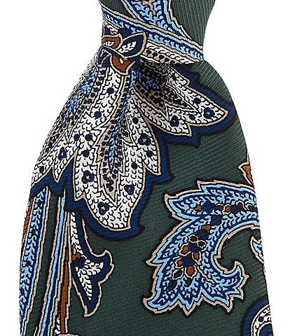 Cremieux Big & Tall Harris Paisley Print Traditional 3 1/4#double; Silk Tie