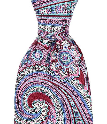 Cremieux Big & Tall Irvine Paisley Print Traditional 3 1/4#double; Silk Tie