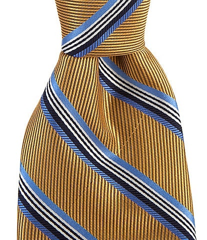 Cremieux Big & Tall Jefferson Stripe Traditional 3 1/4#double; Silk Tie