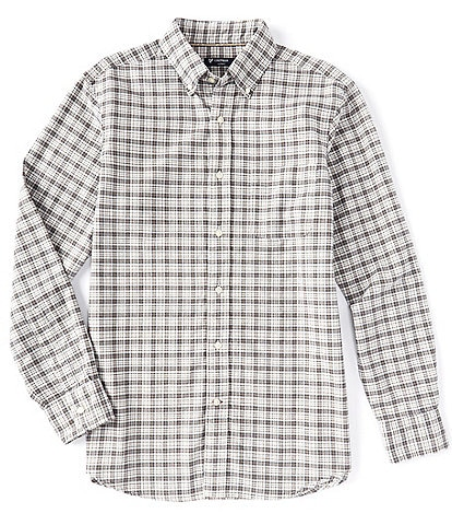 Cremieux Big & Tall Large Plaid Oxford Multi-Color Long-Sleeve Woven Shirt