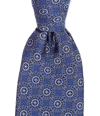 Cremieux Big & Tall Madera Medallion Traditional 3 1/4#double; Silk Tie