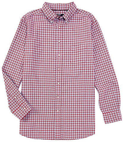 Cremieux Big & Tall Plaid Oxford Multi-Color Long-Sleeve Woven Shirt