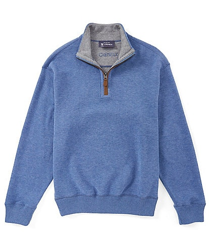 Cremieux Big & Tall Reversible Quarter-Zip Pullover