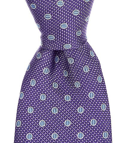 Cremieux Big & Tall Ventura Dot Traditional 3 1/4#double; Silk Tie