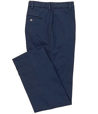 Cremieux Chambers Straight-Fit Flat-Front Knit Travel Pants