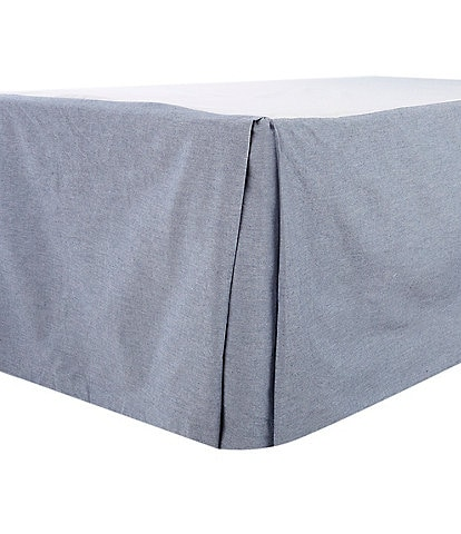 Cremieux Chambray Bed Skirt