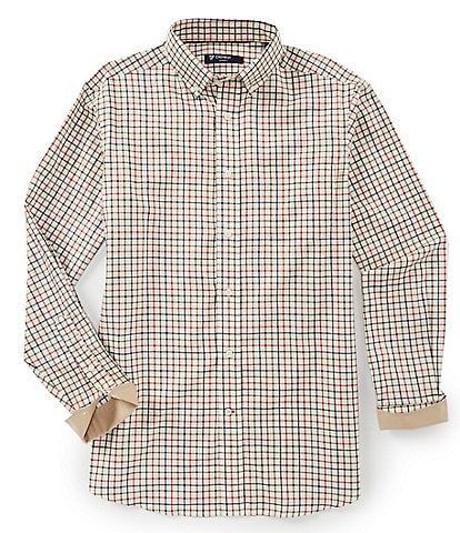 Cremieux Check Twill Long-Sleeve Woven Shirt