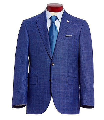 Cremieux Classic Fit Blue Neat Wool Sportcoat