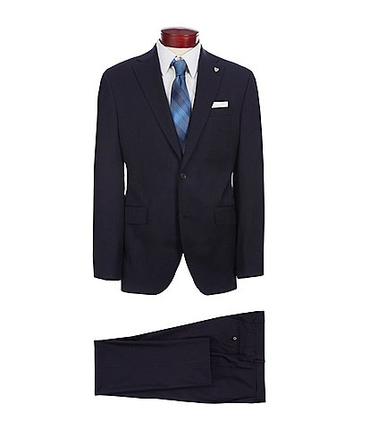Cremieux Classic Fit Pleated Pant Solid Wool Suit