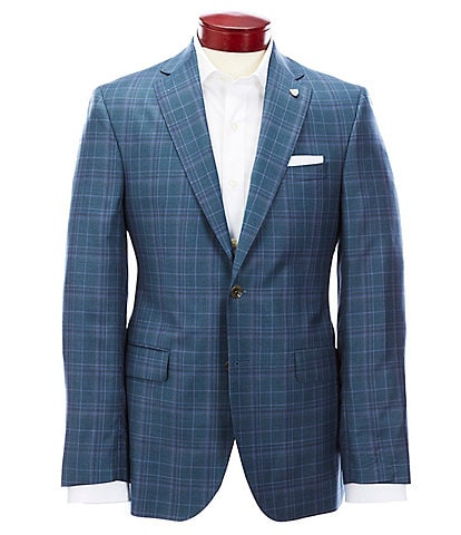 Cremieux Classic Fit Teal Plaid Wool Sportcoat