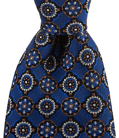 Cremieux Clay Medallion 3 1/4#double; Silk Tie