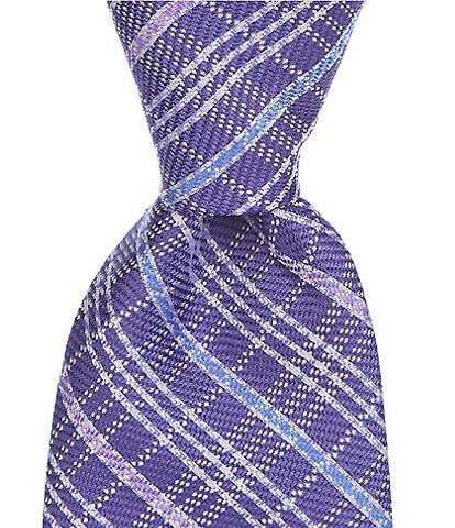 Cremieux Colma Plaid Traditional 3 1/4#double; Silk Tie