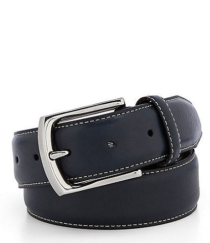 Cremieux Contrast Stitch Leather Belt