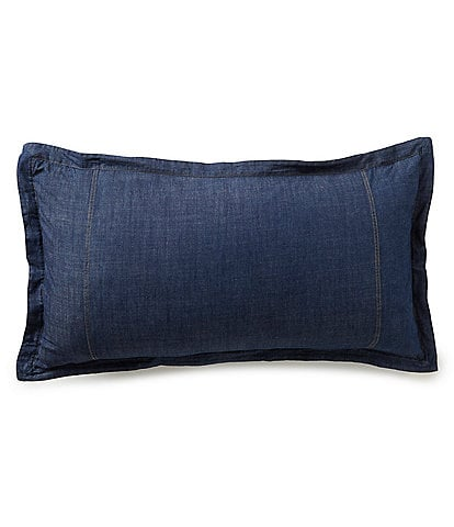 Cremieux Denim Breakfast Pillow