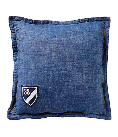 Cremieux Denim Square Pillow