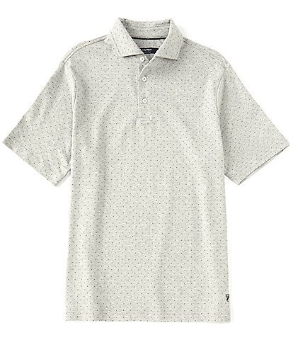 Cremieux Dot Print Short-Sleeve Polo Shirt