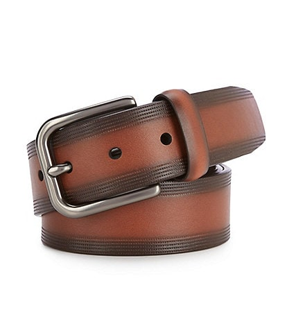 Cremieux Dotted Brownie Leather Belt