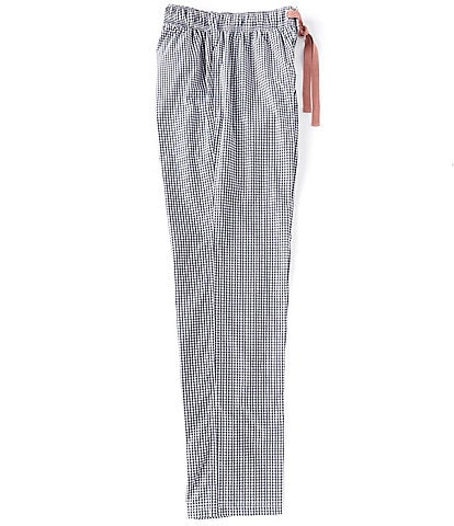 Cremieux Dusty Blue Checked Woven Pajama Pants