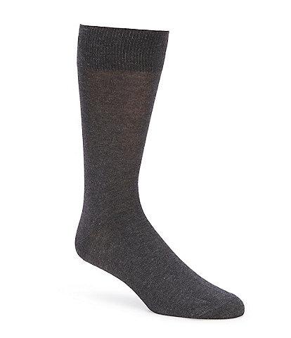 Cremieux Flat Knit Solid Crew Dress Socks