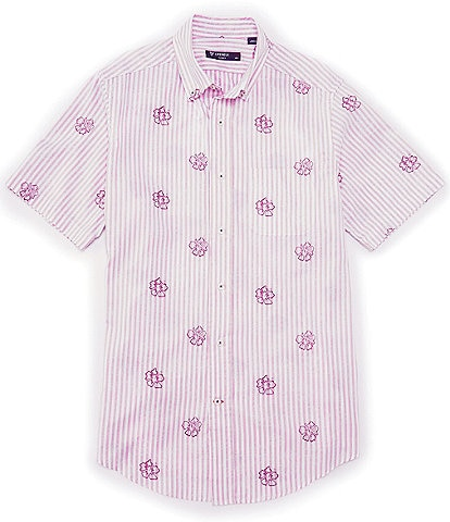 Cremieux Floral Dobby Short-Sleeve Woven Shirt