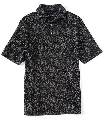 Cremieux Floral Print Short-Sleeve Polo Shirt