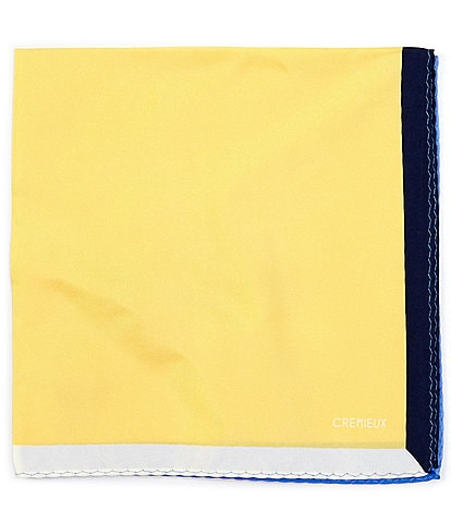 Cremieux Foster Bordered Solid Silk Pocket Square