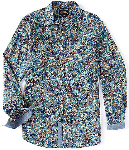Cremieux Jeans Multi Paisley Long-Sleeve Woven Shirt