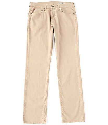 Cremieux Jeans Relaxed Straight-Fit Khaki Stretch Denim Jeans