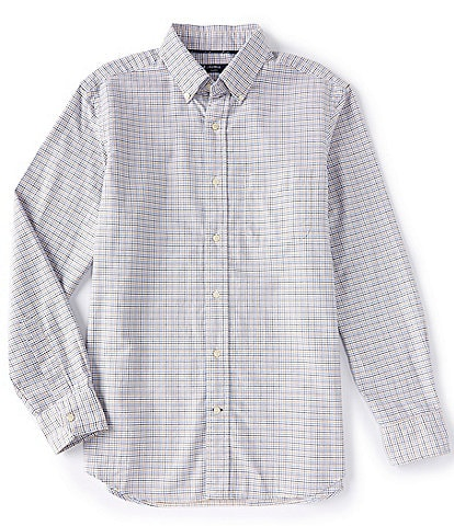 Cremieux Large Check Oxford Long-Sleeve Woven Shirt